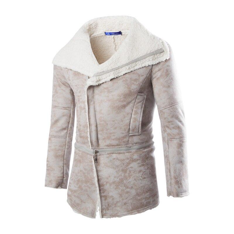 Men Fur Coat Winter 2017 Plus Size Faux Fur Coat Men Parka Jackets Full Length Leather Overcoats With Collar Long Fur Coat Man