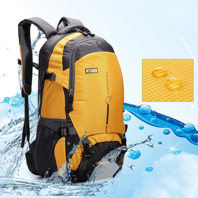 Solid 45L waterproof Ourdoor Backpack  Sports Rucksack Hiking Climbing Camping Hiking Knapsack Packsack Bags for Men Women