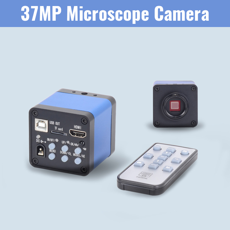 37MP Inspection Microscope Camera 1080P HDMI USB Industrial Electronic Digital Video MagnifierFor Phone CPU PCB Soldering Repair in Microscopes from Tools