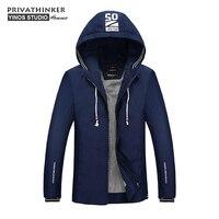 Privathinker 2017 Autumn Hooded Bomber Jacket Man Coat Top Quality Casual Winter Male Windbreaker Jackets