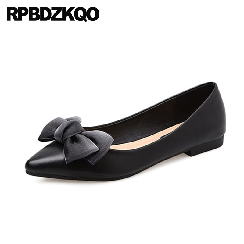 Red Wine Wedding Ballet Shoes Women Flats Bow China Shallow Ladies Cheap Slip On Nude Designer 2018 Ballerina Dress Pointed Toe 2018 women shoes comfort pointed toe patent leather ballerina ballet flats portable travel flats summer slip on shallow shoes