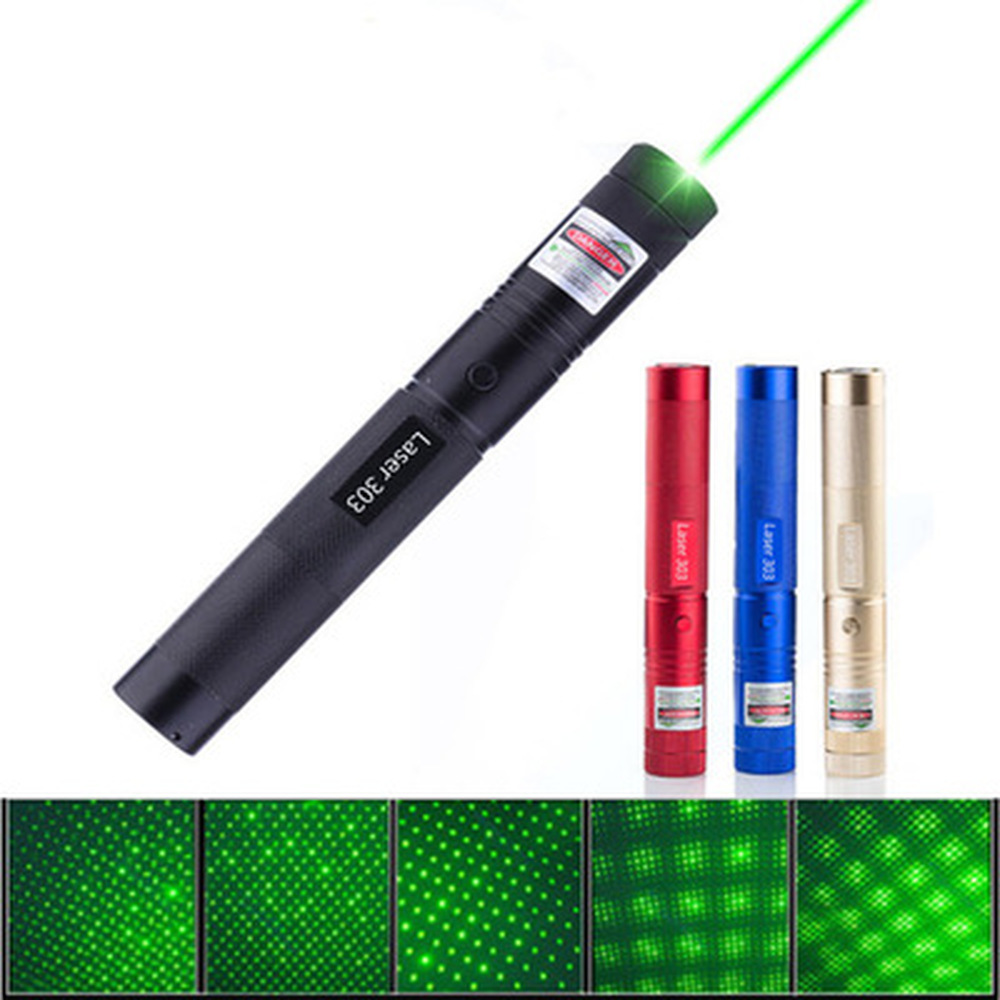 532nm 8000m Green Laser Sight Laser 303 Pointer High Powerful Device Adjustable Focus Lazer Laser Pen Head Blue Red 2 Lamp Head