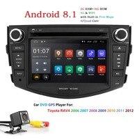 Hizpo 7 дюймовый четырехъядерный 4 CORE Android автомобильный DVD стерео навигации для Toyota RAV4 для Toyota Previa Rav 4 2006 2007 2008 2012 Бесплатная заднего вида Камера