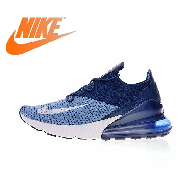 Original authentique Nike Air Max 270 Flyknit hommes chaussures de course confortables Sport en plein Air marche baskets respirant AO1023