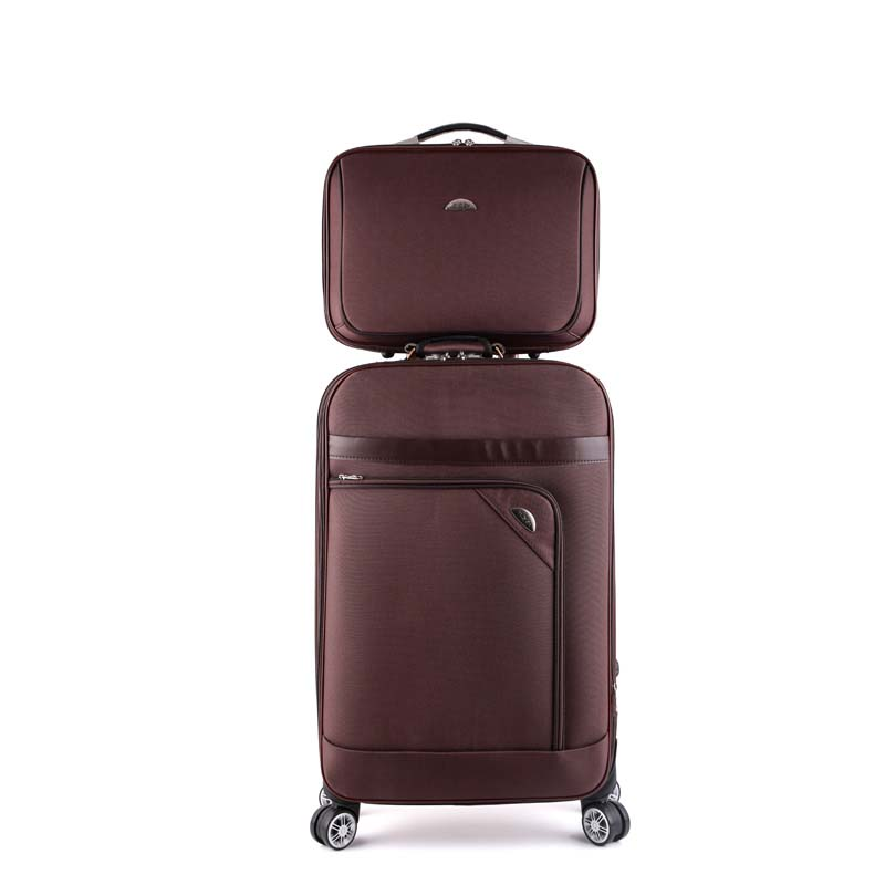 LeTrend Rolling Luggage Spinner Retro skid Suitcase Wheels 20 inch Students Carry on Trolley 26 inch
