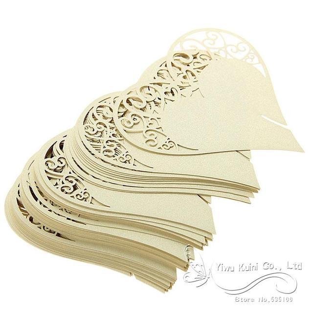 Aliexpress buy gold laser cut heart shape wedding place cards gold laser cut heart shape wedding place cards name cards for wedding party table decoration junglespirit Image collections