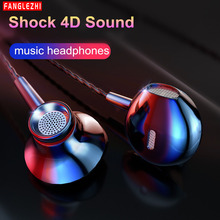 Wired Earbuds Headphones HiFi bass Headset Sport 3.5mm In Ear Earphone Earpiece With Mic for iphone Xiaomi Samsung Mobile phone sport stereo bass ear hook earphones with mic earpiece for your mobile phone for iphone 5 6 7 samsung htc huawei xiaomi earphone