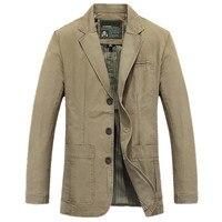 New Men's pure cotton jacket blazer man seasons suit coat male blazers jackets coats plus size M XXXXL