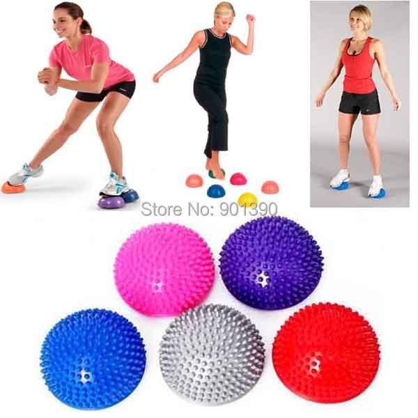 Stability Ball Yoga Poses: Yoga Fitness Ball Massage Half Ball Stability Gymnastic