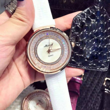 Luxury Brand Watches Women Quartz Watch Waterproof Casual Fashion Flower Rhinestones Leather Wristwatch relogios feminino