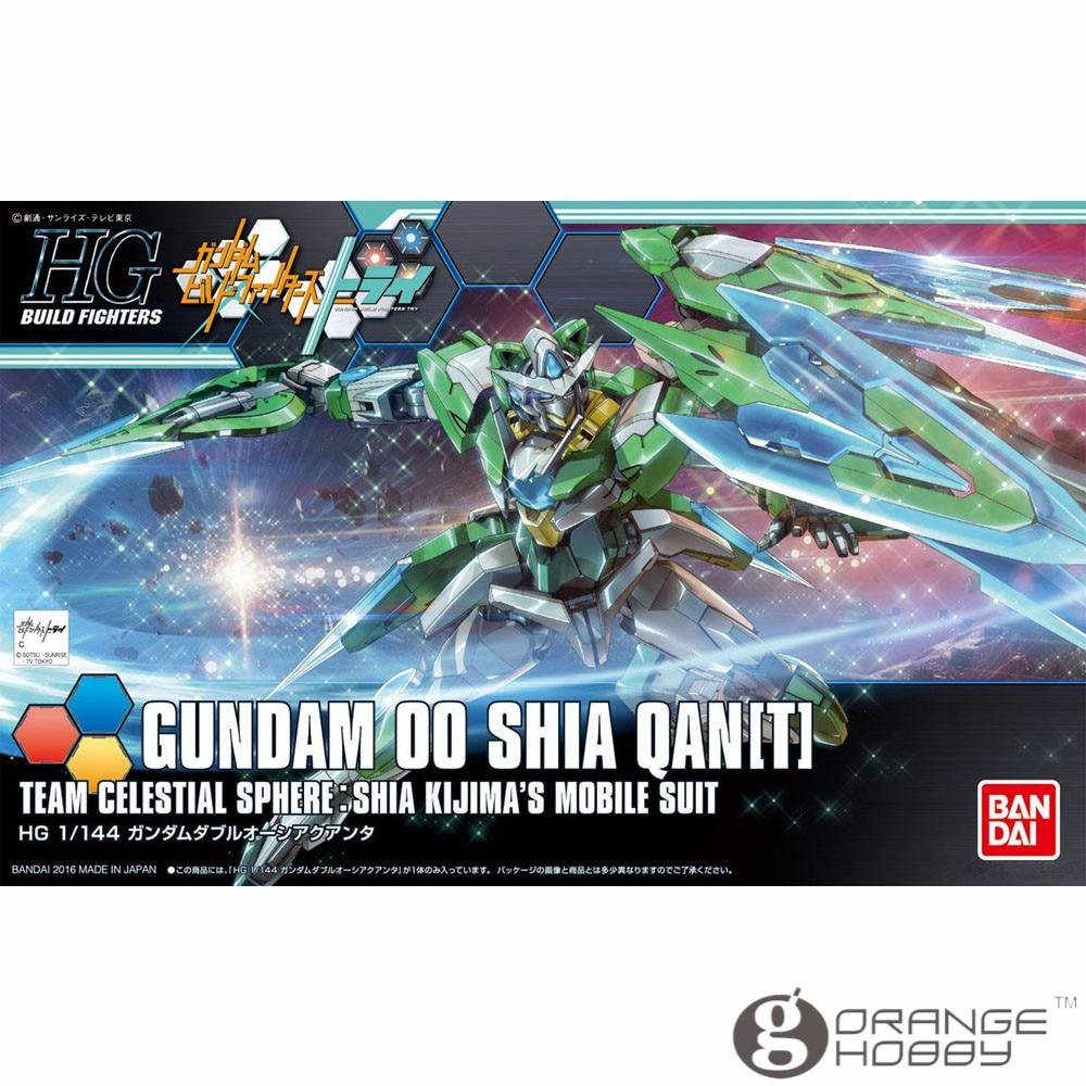OHS Bandai HG Build Fighters 049 1/144 Gundam OO Shia QAN T Mobile Suit Assembly Model Kits bandai bandai gundam model sd q version bb 309 sangokuden wu yong bian xiahou yuan battle