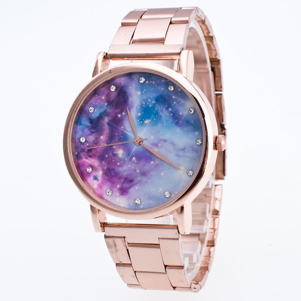 Luxury Women Watches Geneva Diamond Star Wrist Watch Stainless Steel Dial Watch Band Hour Clock  Quartz Watch Men