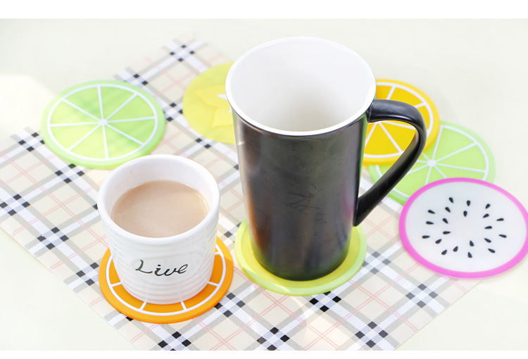 Fruit Watermelon Orange Pitaya Coaster Nonslip Heat Insulation Place Mat pads Cup Cushion Tea Cup Holder