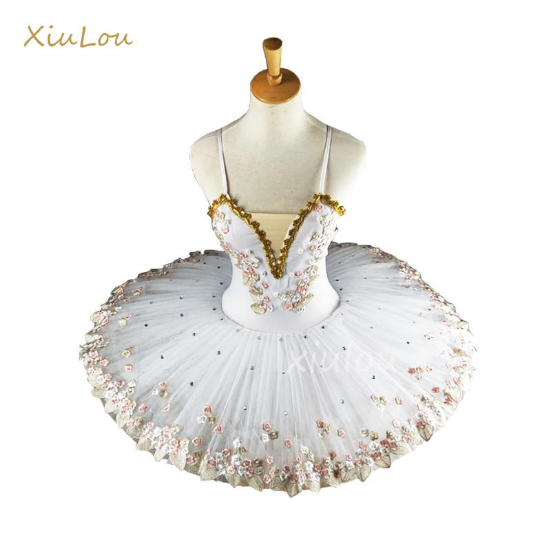 White Professional Ballerina Ballet Tutu For Child Children Kids Girls Adults Pancake Tutu Dance Costumes Ballet Dress Girls(China)