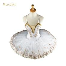 Белая профессиональная балетная пачка для балерины для детей, детей, девочек, взрослых, блинная пачка, танцевальные костюмы, балетное платье для девочек