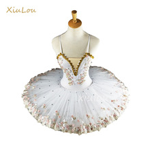 Tutu Ballet-Dress Dance-Costumes Ballerina-Ballet Professional Girls White Adults Kids