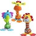 Animales de colores infantiles sonajeros de bebé suave felpa toys niños cuidan mano móviles campana de mano del bebé de juguete-byc043 pt15