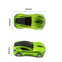 Wireless Mouse 3D Sports Car Computer Mouse Car Wireless Optical Gaming Mice 2.4Ghz with LED Flashing Light For Laptop PC Gift