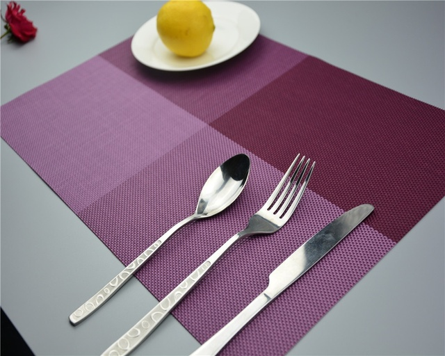 Home Decor PVC Dining Room Placemats For Table Heat Insulation ...