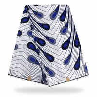 african wax prints fabric blue and white water design wax fabrics for dress wax prints hot 100% cotton african textile