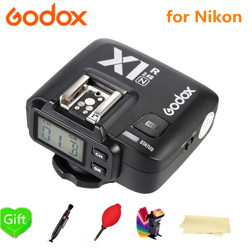 Godox X1R-N 2.4G Wireless Flash Receiver for Nikon DLSR Nikon D800 D3X D3 D2X D2H D1H D1X D700 Xpro-N X1T-N Trigger Transmitter цена