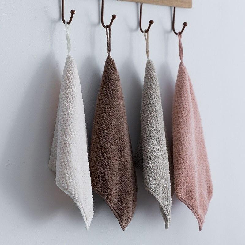 High Quality Japanese Children Handkerchiefs Square Pocket Hanky Pure Color Handkerchief Portable Towel 25x25cm