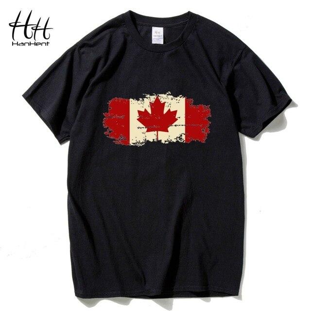 782a05b958da17 HanHent Kanada Flagge Kanadischen Blatt T-shirt Mens Regular Fit Kleine bis  Zu XXLarge Neue