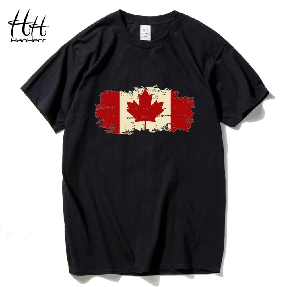 Design t shirt online canada - Hanhent Canada Flag 2016 New Fashion T Shirt Cotton Short Sleeve T Shirt Canadian Maple