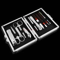 Nail clip manicure nail set nail clippers toenail pliers home tool eyebrow scissors nose hair cut knife