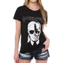 2019 New Yfashion Women Soft Cotton Fashion Skull Pattern Short Sleeve T-shirt
