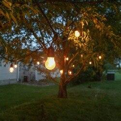 Nowy produkt UL CE ROHS lista 48ft 15 sztuk zawieszone gniazda wodoodporne ozdobne ogród ślub dekoracyjne ściemniacz ciąg światła