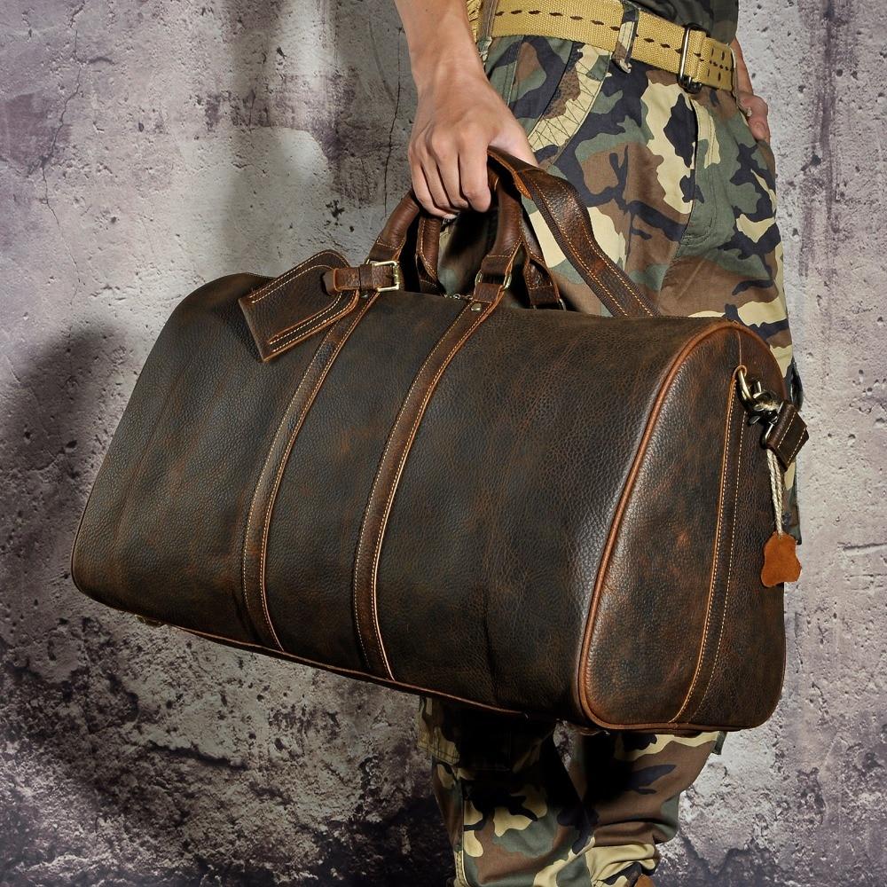 Männer Original leder Große Kapazität Designer Reisetasche Reisetasche Gepäcktasche Mode Männlichen Koffer Messenger Schulter Tasche 3264-in Reisetaschen aus Gepäck & Taschen bei  Gruppe 2