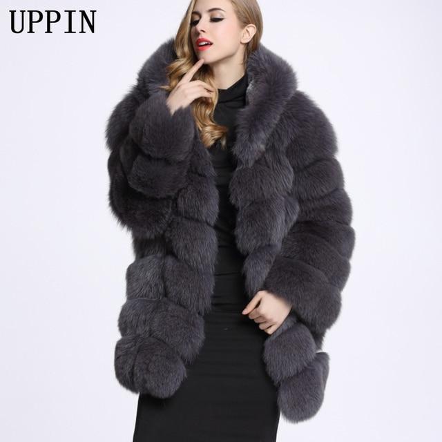 90a151448ff50a UPPIN 2017 Nuovo Cappotto Invernale di Spessore Con Cappuccio della  Pelliccia Del Faux Del Cappotto di