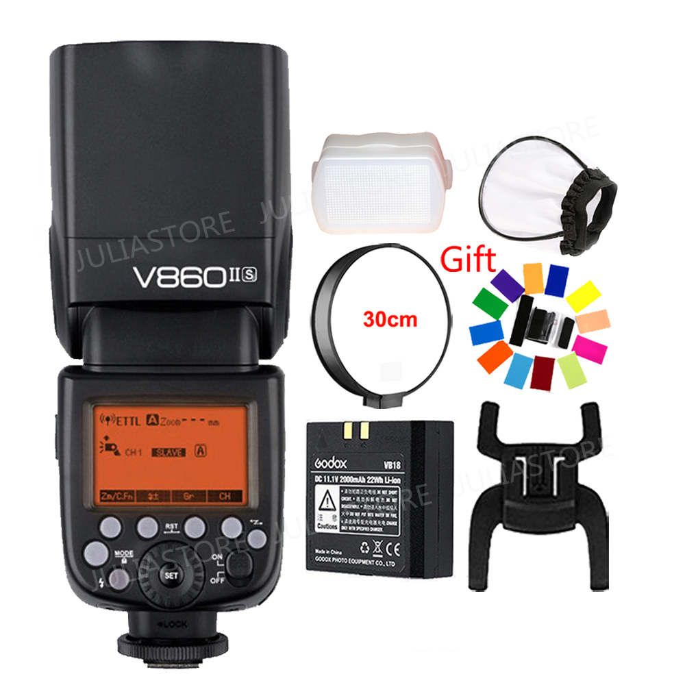 Godox V860II-S TTL II HSS Li-ion Camera Flash for Sony A5000 A5100 A6000 A6300 A58 A99 A7R A7S A7II