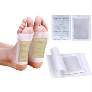 Image 1 - 400 adet/(100 çanta (200 adet) yamalar + 200 adet yapıştırıcılar) detoks ayak yamalar pedleri vücut toksinler ayak zayıflama temizlik ayak bakımı aracı