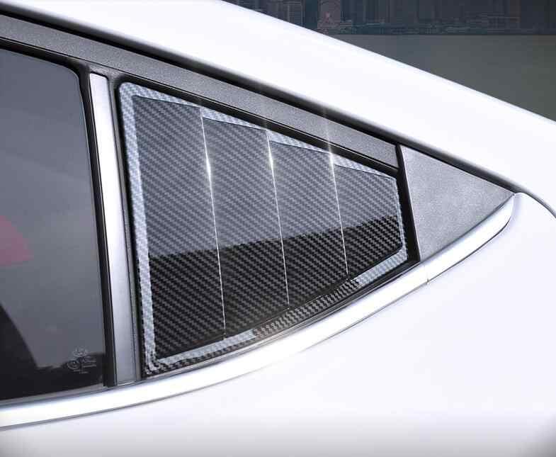 עבור Elantra 2016-2018 סדאן ABS אחורי דלת חלון גווני תריסי מסגרת חלון דפוס אדן כיסוי מדבקה לקצץ