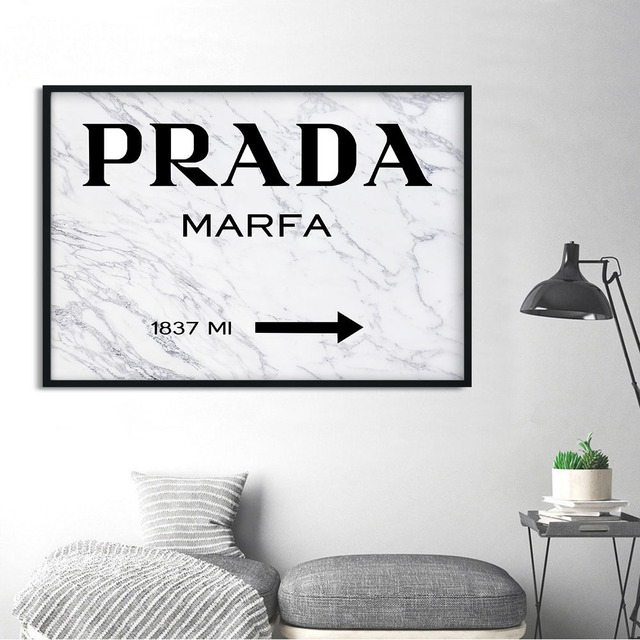 033a03b5f05d2 US $5.49 |Marble Pattern Fashion Style Poster Nordic Decoration PRADA Wall  Art Canvas Print Modern Painting Decorative Picture Home Decor-in Painting  ...