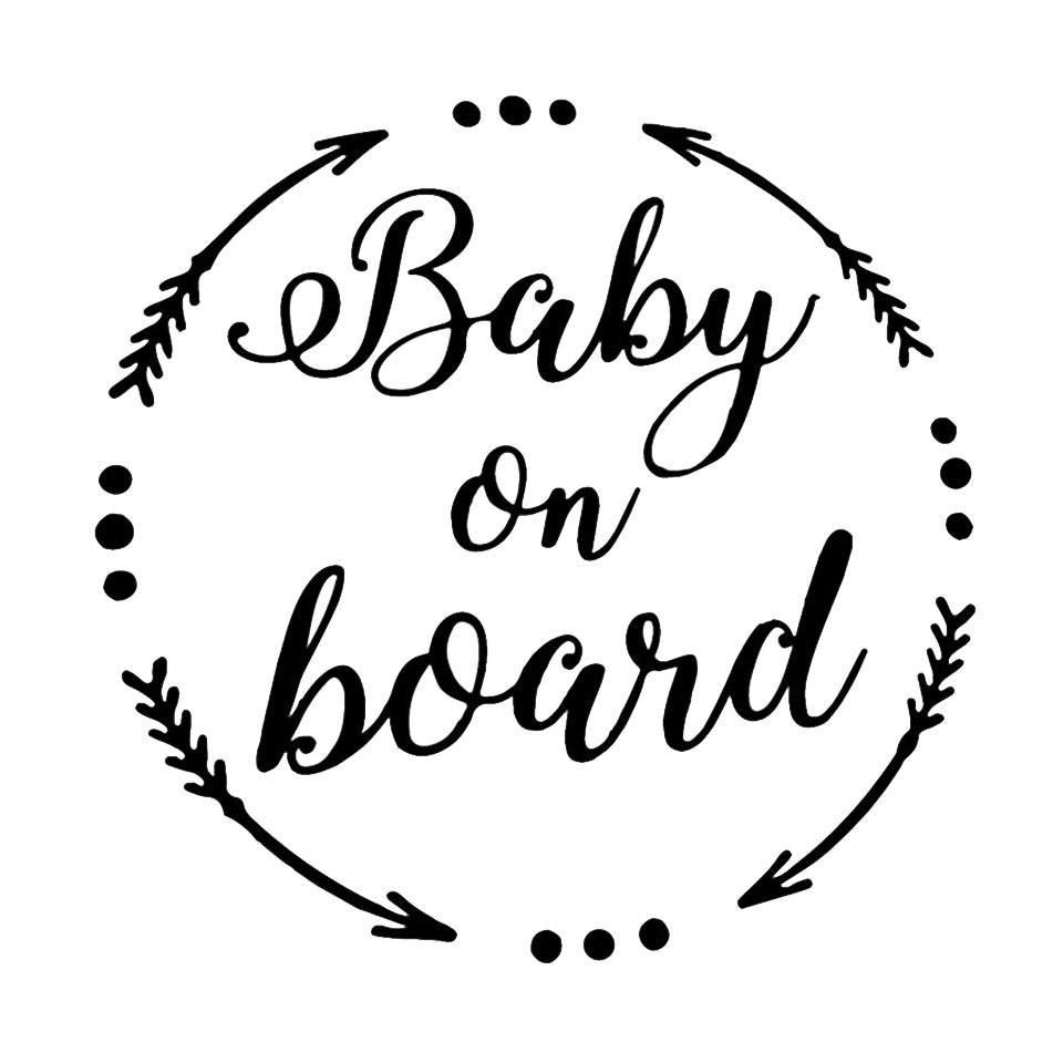 15.8CM15.6CM BABY ON BOARD Baby In The Car Stickers Warning Vinyl Decoration Home Sticker BlackSilverLaser  (2)
