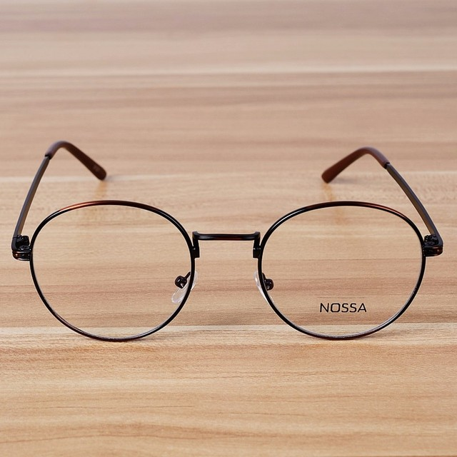 Brand High Quality Copper Metal Glasses Frame Myopia Round Glasses ...