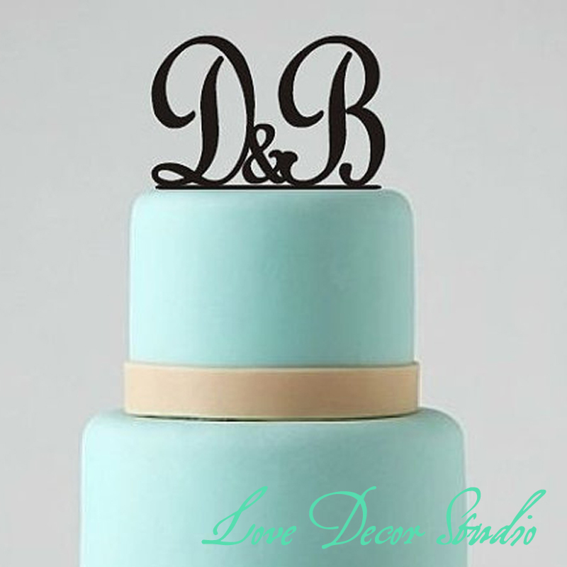 cheap monogram wedding cake toppers personalized monogram wedding topper cake topper custom 12516