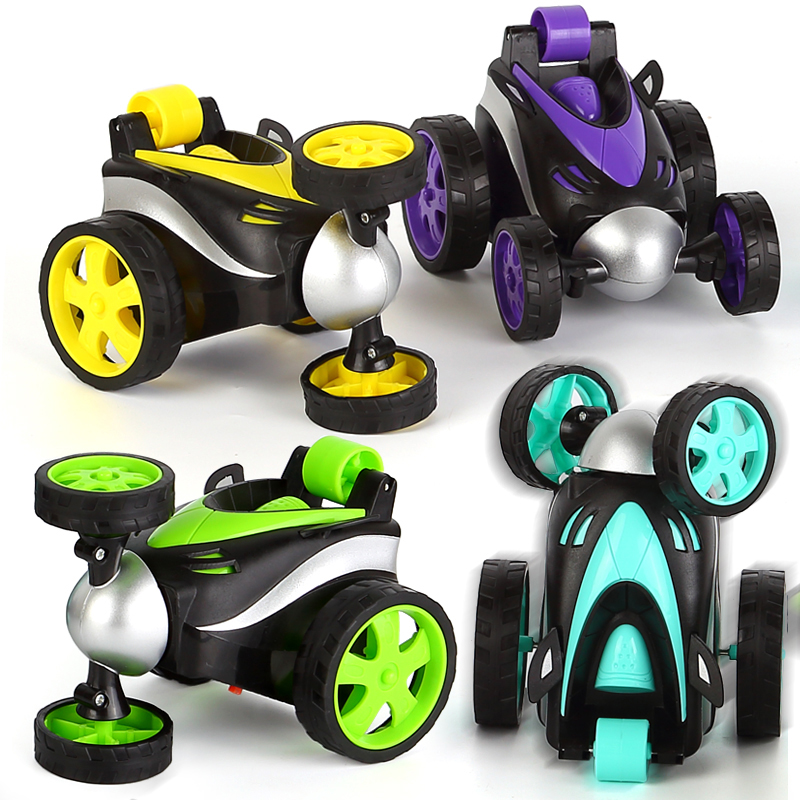 Rolling 360 Rotating Fast Mini RC Car Deformation Tumbling Model Rock Electronic Remote Control Drift Stunt Car Toy For Children
