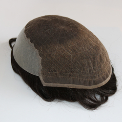 Eversilky Indische Menschliche Remy Haar Ersatz System Für Männer Toupet Mens Haarteile Q6 Basis Französisch Spitze mit Haut Verschiedene Farbe