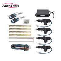 5pcs/lot Universal CAR keyless central lock system 360 Degree Rotation Remote Central car Alarm Security Kit 4 car Entry System