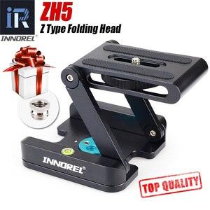 Image 1 - ZH5 Z type tilt tripod head Flex folding Z pan for Canon Nikon Sony DSLR camera Aluminum alloy Top quality All metal CNC tech