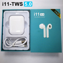 Mini Handsfree i11 tws 5.0 Bluetooth Earphone Wireless Earphones Stereo In ear Auto Pair Touch Control Bass Charger Box Headset