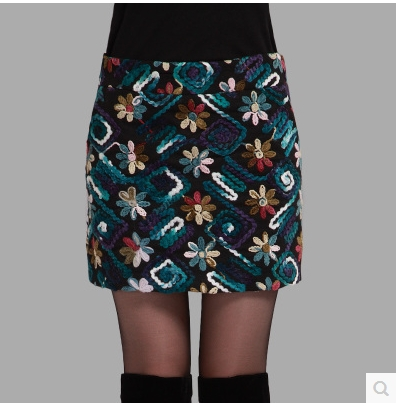 Free shipping !!!Cloth skirt qiu dong with skirts more female bag hip skirt flower skirt to show thin step skirt bigger sizes