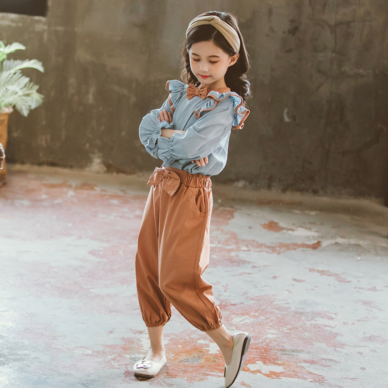 Image 5 - 2020 New Girls Clothes Autumn Girls Clothing Sets Kids Girls 2pcs  Suits Kids Clothes for Girls Blouses Shirts   Pants 8 10 12 14Clothing  Sets