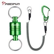 Piscifun магнитный держатель сетки для ловли нахлыстом, алюминиевый прочный держатель сетки для шлейфа 3,5 фунтов, шнур для кабеля кг, зеленый/се...