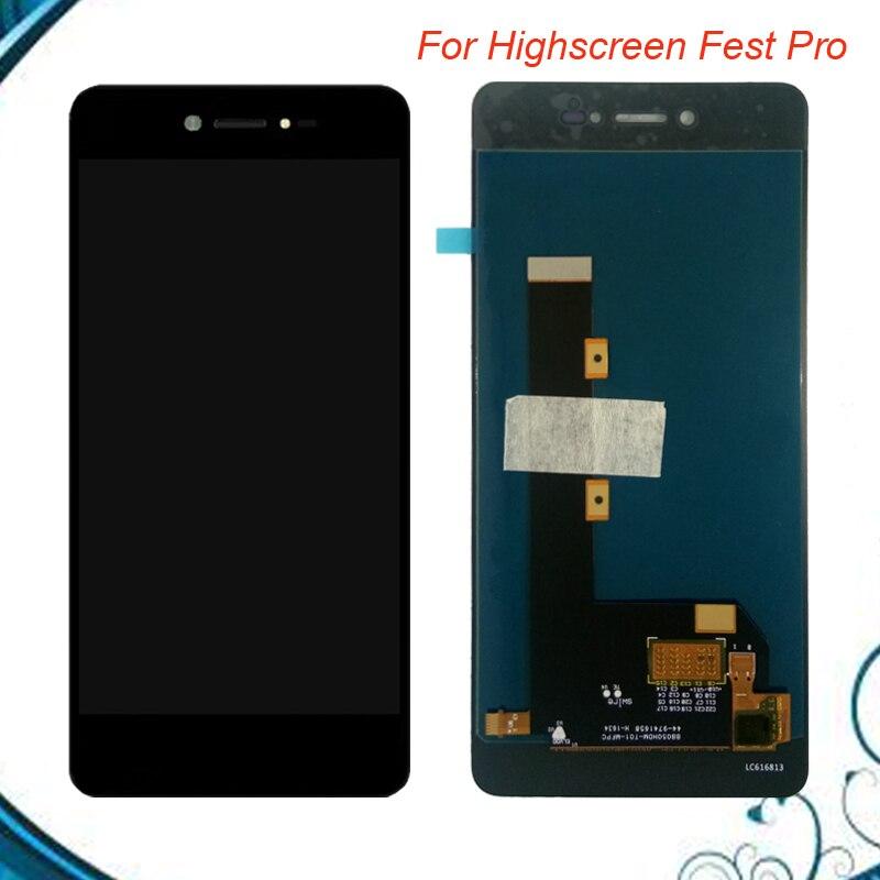 100% Testé OK Pour Highscreen Fest Pro LCD + Écran Tactile Digitizer Assemblée Avec highscreen fest pro couleur noire