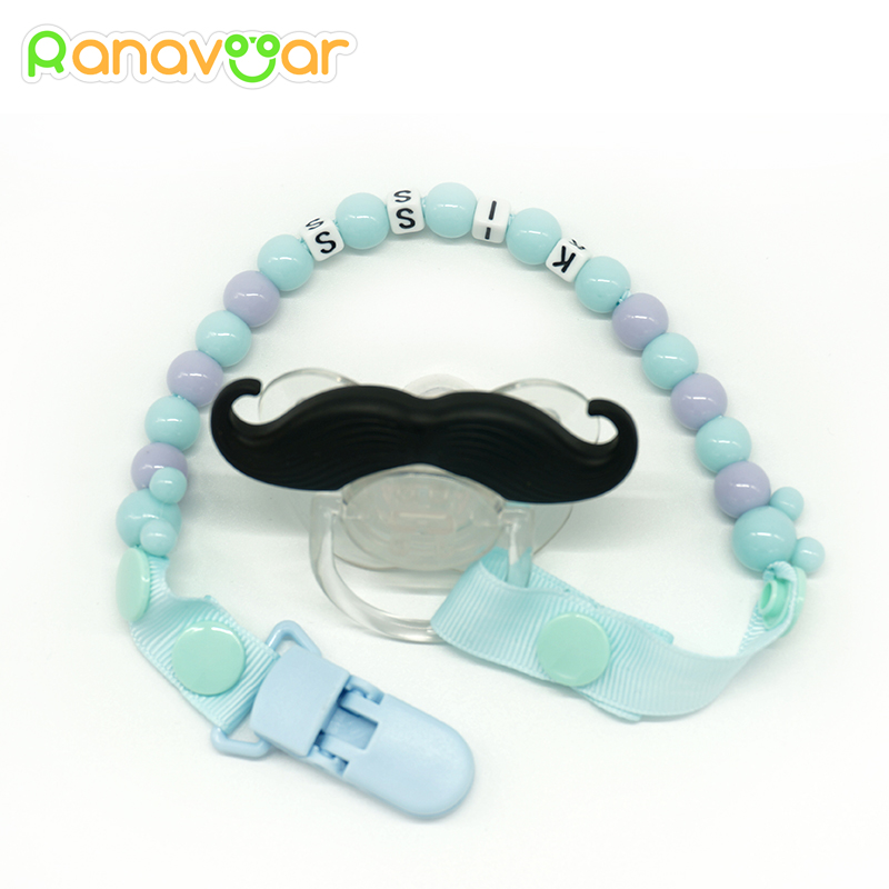 New Baby Toddler Dummy Pacifier Soother Spring Nipple Clip Chain Strap Holder HZ